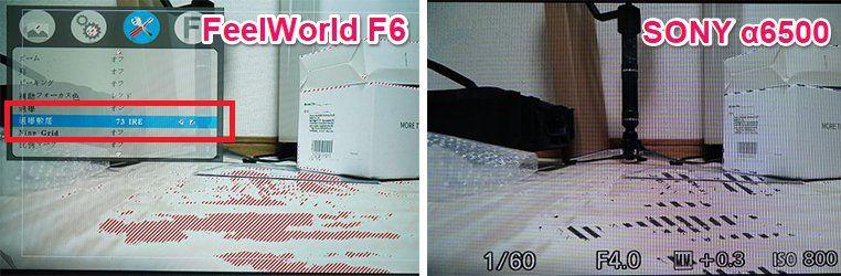 FEELWORLD F6,ゼブラ