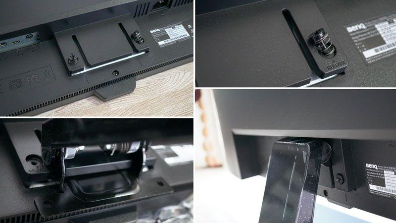 BenQの2018年最新4K液晶ディスプレイ EW3270Uのアームスタンドホルダー