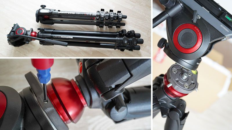 Manfrotto MT190CXPRO4とビデオキット シングル3段 MVH500AH-755XBK