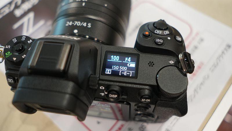 Nikon Z7の表示パネル