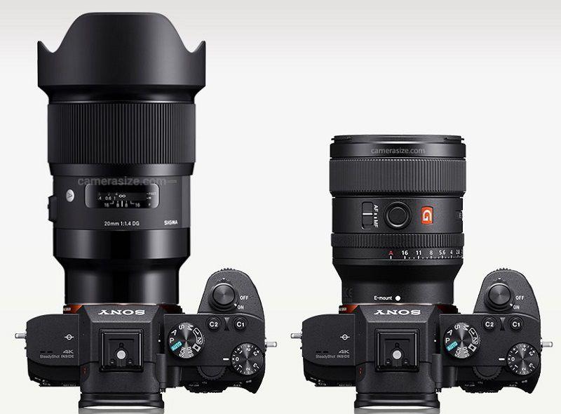 FE 24mm F1.4 GMとシグマ24mm F1.4 DG HSMのサイズ比較
