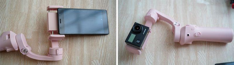 ATOMにスマホやアクションカメラを装着