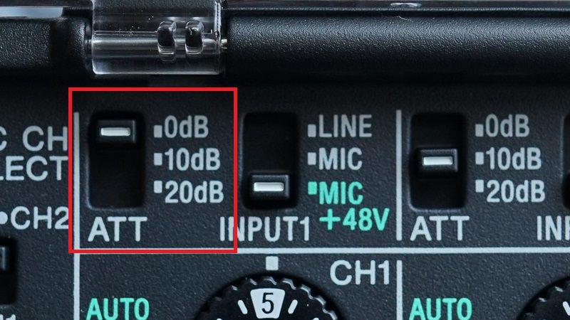 ATT(入力レベル)切替スイッチ