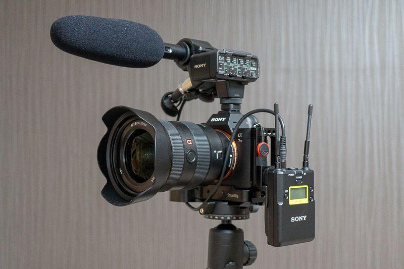 XLR-K2MとSONYワイヤレスマイク UWP-D11の併用した写真