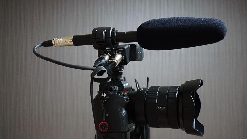 α7ⅢとXLR-K2MにゼンハイザーMKE600を装備した写真