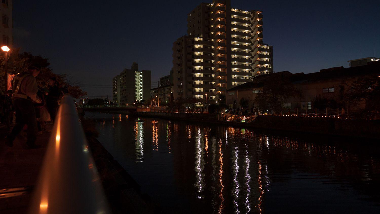 FE24mmF1.4GMで撮る夜の城北川