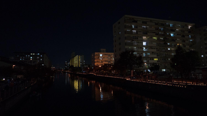 SEL24F14GMの作例 キャンドルナイトin城北川