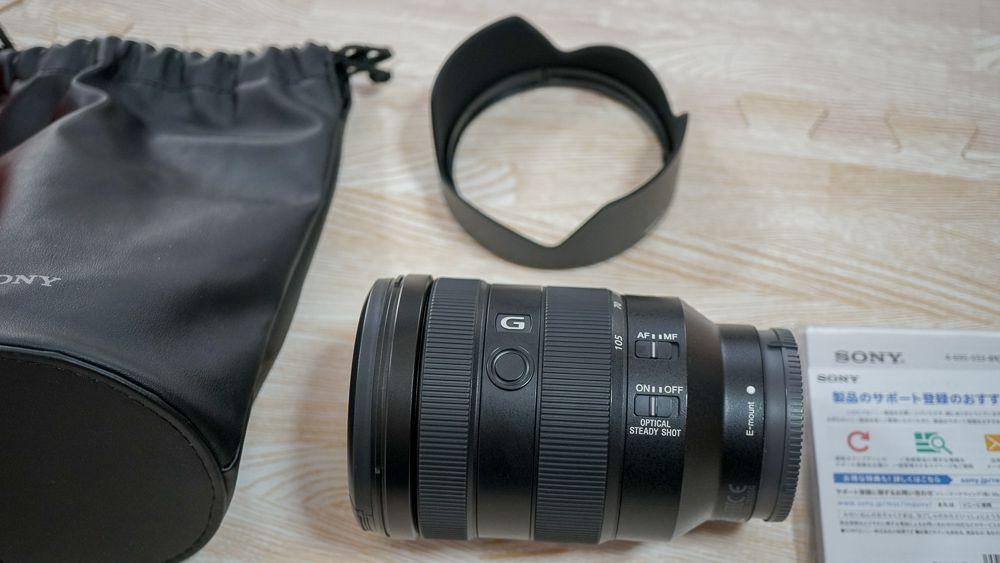 SEL24105Gのケースとレンズキャップ・レンズフード