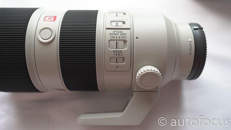 FE70-200mm F2.8 GM OSSの手振れ補正切替ボタン