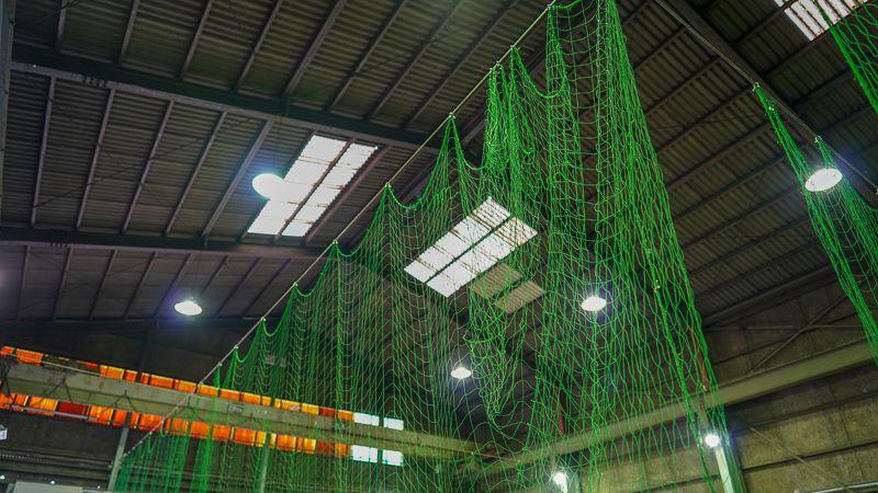 ドローンスクールジャパン東京目黒校の練習場の天井写真