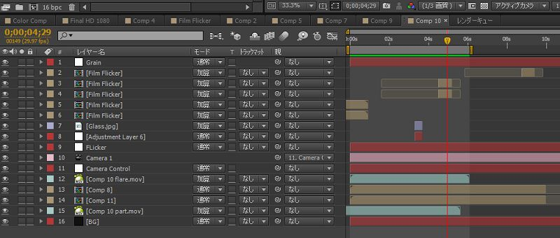 After Effects,コンポジション,
