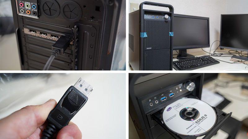 DAIVシリーズの動画編集用パソコンをデスクに設置