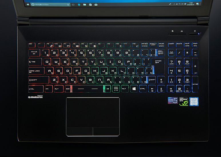 GALLERIA GCF1060GFのキーボード